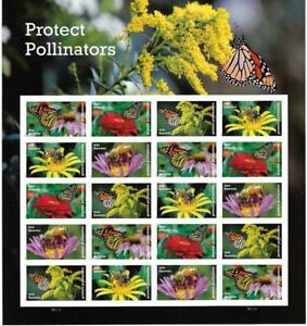 US SCOTT 5228 - 32 PANE OF 20 PROTECT POLLINATORS STAMPS FOREVER FACE MNH