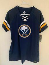 Buffalo Sabres Fanatics Branded Women's Draft Me Lace Up T-Shirt - Blue