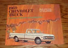 1969 Chevrolet Truck Custom Feature Accessories Brochure 69 Chevy Pickup