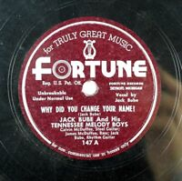 Jack Bube - C & W Detroit Bopper Fortune 78 - Why Did You Change Your Name! A13