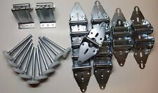 New Garage Door Hardware Kit - 16x7 or 18x7 - QUIET Rollers, Hinges, Brackets