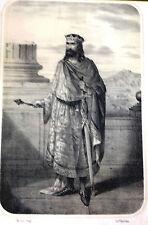 Heráldica. Ramiro II.Litografía original. ca. 1860