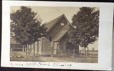 MINESING, ONTARIO, CANADA, Photo Post Card 1906 Church, STREET SCENE