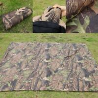 Waterproof Camo Sheet Canopy Awning Rain Cover Camp Shelter Hiking Tarp Tent SL