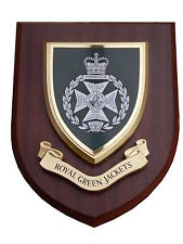 RGJ Royal Green Jackets Wall Plaque Regimental Military Mess Shield