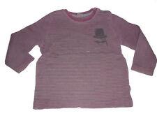 Esprit tolles Langarm Shirt Gr. 80 / 86 rot-grau geringelt !!