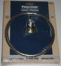 taymor avanti collection chrome u0026 brass towel ring new packaging distressed