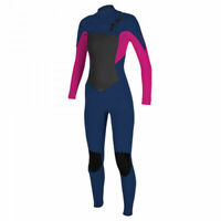 O'Neill Epic 3/2mm Chest Zip Girls Kids Full Length Wetsuit 2021 – Navy / Berry