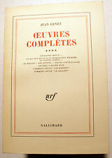 GENET/OEUVRES COMPLETES/TOME IV/ED NRF/GALLIMARD/1980/SERVICE PRESSE