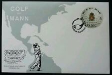Isle Of Man Golf 1997 Sport Outdoor Games (stamp FDC) *round shape stamp