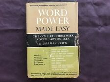 Word Power Made Easy by Norman Lewis Hardback with Dust Jacket