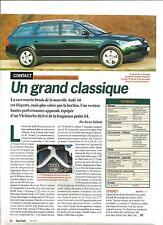 ESSAI ARTICLE PRESSE REPORTAGE AUDI A6 AVANT 2.7 T QUATTRO 1991 1 PAGE
