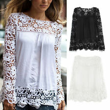 Damenblusen, - tops & -shirts mit U-Ausschnitt aus Polyester