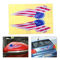 USA American Flag Wing Badge Emblem Window Bumper Sticker Door Fender Hood Decal