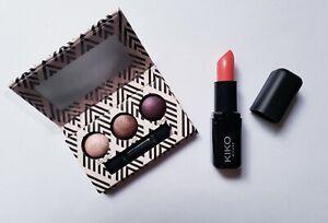 Laura Geller Eyeshadow Trio Palette & Kiko Watermelon Lipstick *410* Gift Set