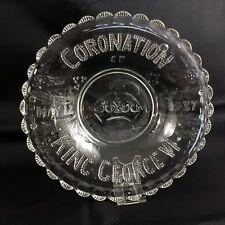 King George VI Commemorative Glass Bowl 1937 BRITISH ROYAL Family