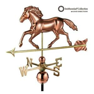 Good Directions Weathervane Smithsonian Running Horse Roof Mount Pure Copper