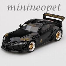 MINI GT MGT00219 TOYOTA GR SUPRA V1.0 1/64 PANDEM DIECAST MODEL CAR BLACK