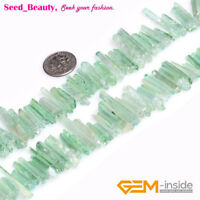 """4x27mm Dyed Natural Quartz Stick Point Beads for Jewelry Making Strand 8"""""""