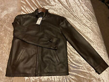 Polo Ralph Lauren South Hampton Leather Jacket, Brown BNWT RRP £449.99 Small