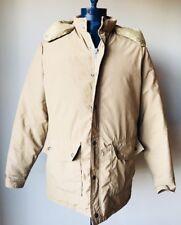 Vintage Schott Goose Down Plume Jacket Coat Tan Mens Size Large