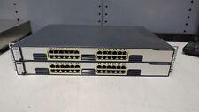 2x Cisco WS-C3750G-24T-E 24-Port  Gigabit Ethernet Switches