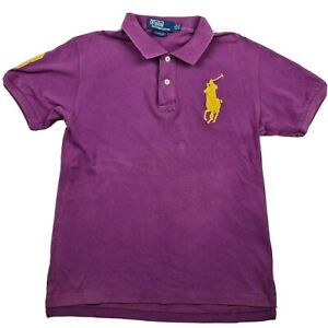 Polo by Ralph Lauren Size M Custom Fit Purple Polo Shirt Big Horse Cotton - GH9Z