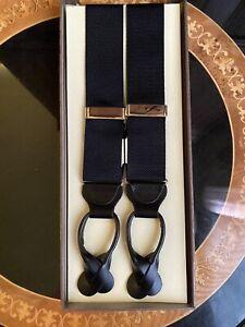 NWT TRAFALGAR Suspenders Braces Men's Adjustable Navy Blue