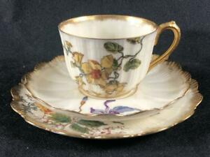 FINE ANTIQUE FRENCH LIMOGES ( M. Redon.) PORCELAIN CUP, SAUCER & PLATE. #6.