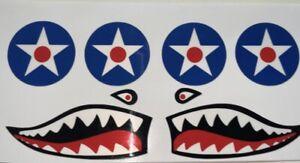 Cox .049 P-40 Warhawk Airplane Sticker Set (Reproduction)