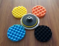 "F Auto Car 7PCS 3/4/5/6/7"" Sponge Polishing Waxing Buffing Pads Kit Set Compound"