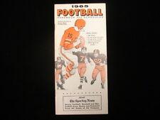 1965 TSN Football Handbook & Schedules Booklet
