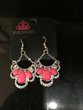 Paparazzi Jewelry- BRAND NEW- Caribbean Royalty- Pink Earrings