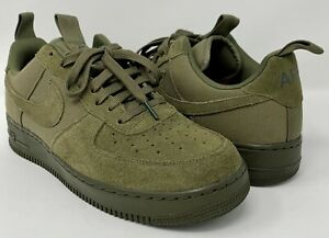 NIKE Air Force 1 Canvas 579927-200 Olive Military Green Size 10.5 Medium
