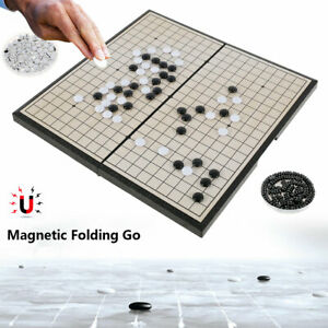 Go  Game Set Magnetic Board Portable Folding Strategy Board Game Chinese ;