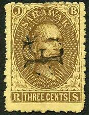 Sarawak SG1 3c brown/yellow with F postmark