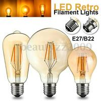 4W G95/ST58/A60 COB LED Vintage Edison Filament Light Globe Lamp Bulb B22/E27