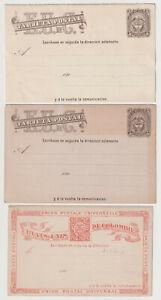 D2787: (6) 19th C Colombia Postal Karten, Postfrisch