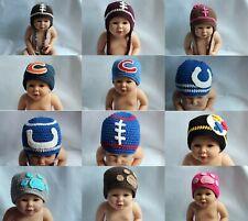 New Wholesale Lot 10 Knit Cotton Newborn Baby Child Football Hat Photo Prop Hats