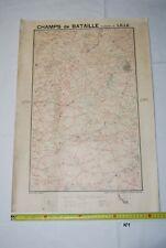AF1 Carte - Champs de Bataille - Ed Perin - LILLE - WW1 WW2 Planche 5