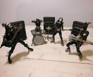 KISS Alive set di 4 Simmons Frehley Criss Stanley McFarlane Toys 2002 Loose