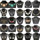 Fashion Charm Jewelry Crystal Chain Choker Chunky Statement Bib Pendant Necklace