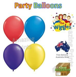 The wiggles Party decoration Balloons Hellium Supply Emma Lachy Pack Set Anthony