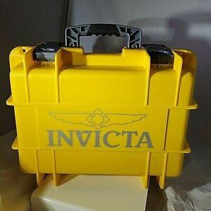 Invicta 8 Slot Impact Resistant Yellow Case