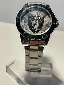 NFL (Oakland Raiders)STAINLESS STEEL QUARTZ WATCH NEW!!!