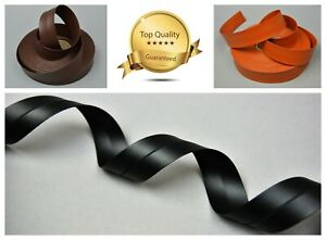 30mm PU Faux Leather Flat Ribbon Trimming Tape Strap Belt Bag Vegan Imitation
