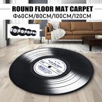 Record Printed Type Fabric Round Floor Carpet Indoor Rug Mat Bedroom Decor