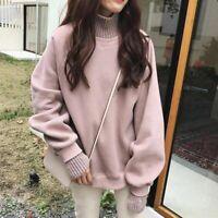 Women Loose High Neck Warm Sweater Autumn Winter Korean Version Loose Pullover