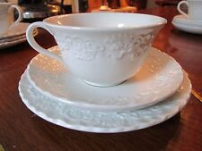 """Wedgwood Trio Cup /Saucer Cake Plate """"Claire"""" Pattern For Ralph Lauren[117]"""