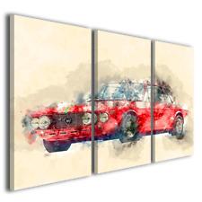 Quadri moderni auto Lancia fulvia stampe su tela arredamento design ® quality